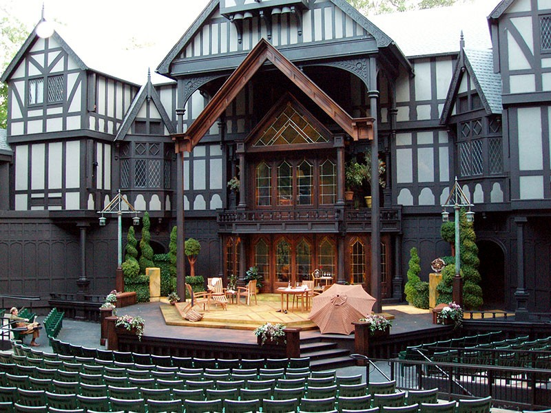 Love's Labours Lost scenic design by Marjorie Bradley Kellogg