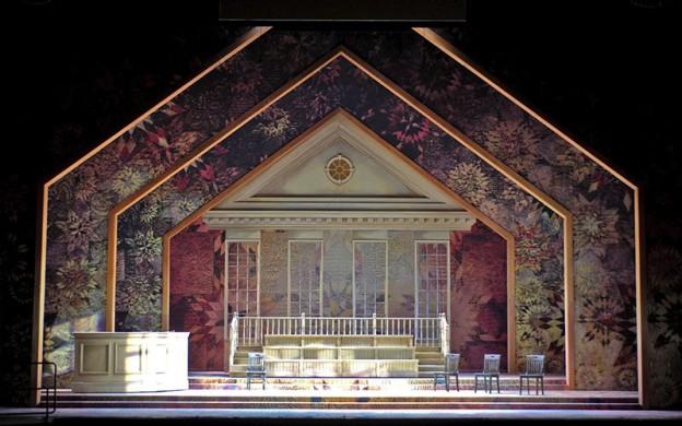 Margaret Garner - the Courtroom scenic design by Marjorie Bradley Kellogg