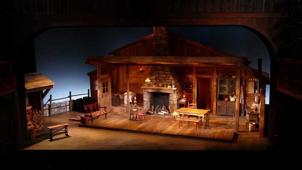 Flyin' West scenic design by Marjorie Bradley Kellogg