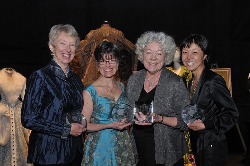 Photo of Deborah M. Dryden, Marianne Krostyne, Marjorie Bradley Kellogg and Linda Cho, Photo by Anita and Steve Shevett