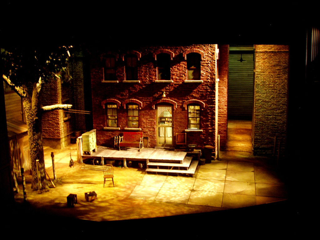 Fences scenic design by Marjorie Bradley Kellogg